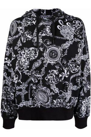 VERSACE Men Jumpers - Baroque-print pullover hoodie