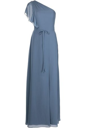 Marchesa Notte Gathered-bodice full-length gown