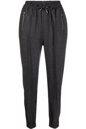 ERMANNO SCERVINO Drawstring virgin wool-blend trousers
