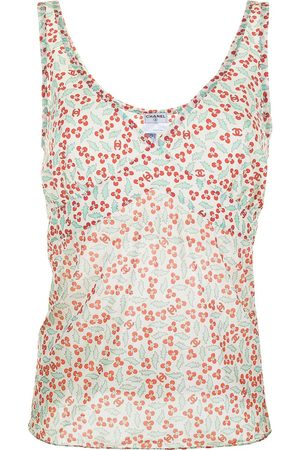 CHANEL 2004 sheer floral tank top