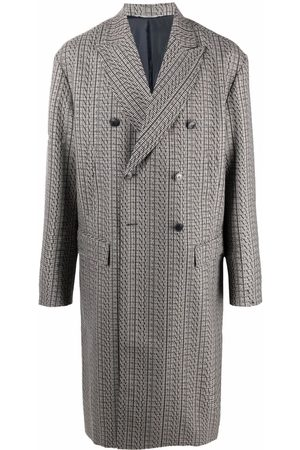 VALENTINO Houndstooth double-breasted coat
