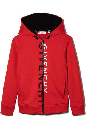 Givenchy Split logo zipped hoodie