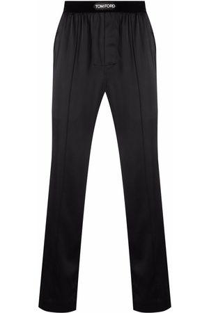 TOM FORD Logo-waistband silk pajama trousers