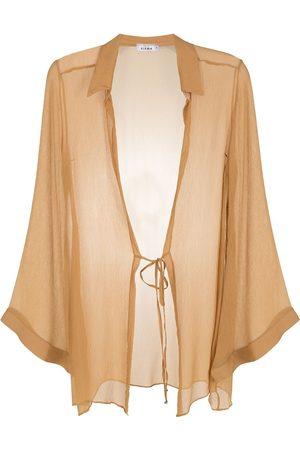 AMIR SLAMA Silk beach dress