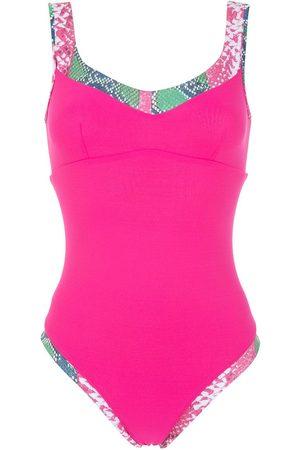 Amir Slama Women Swimsuits - Snakeskin print swimsuit