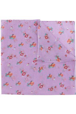 AMIR SLAMA Printed silk scarf