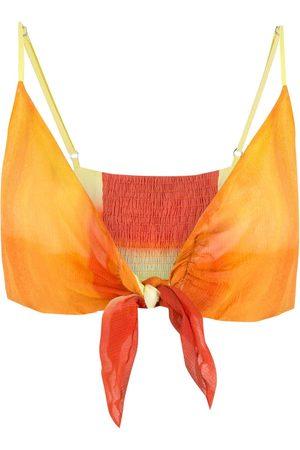 AMIR SLAMA Tie-fastening cropped top