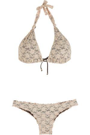 AMIR SLAMA Lace triangle bikini set