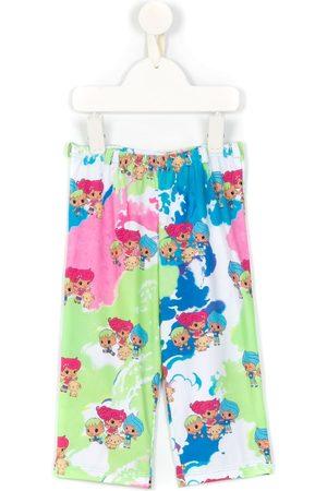AMIR SLAMA Printed + CHOCOLIX wide-leg trousers