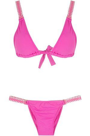 Amir Slama Tie-fastening triangle bikini set
