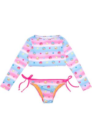 AMIR SLAMA Printed + CHOCOLIX long sleeves bikini set