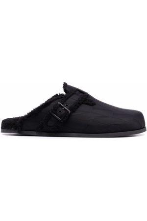 VALENTINO GARAVANI Men Loafers - Embroidered-logo slip-on loafers