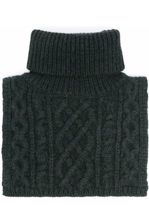 Maison Margiela Cable-knit roll-neck scarf