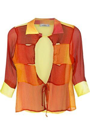 AMIR SLAMA Printed silk shirt