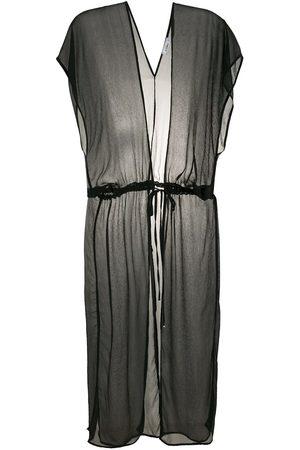 AMIR SLAMA Silk long shirt dress