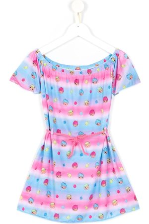 AMIR SLAMA Printed + CHOCOLIX short sleeves dress