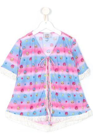 AMIR SLAMA Printed short sleeves kimono