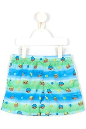AMIR SLAMA Boys Swimming Briefs - Printed + CHOCOLIX swim shorts