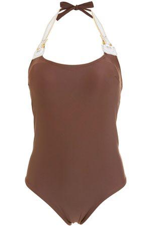 AMIR SLAMA Bow-detail swimsuit