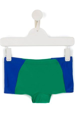 AMIR SLAMA Boys Swimming Briefs - Panelled swim trunks