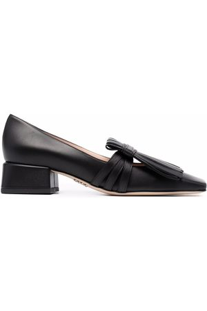 RODO Women Loafers - Fringed square-toe loafers
