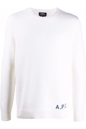 A.P.C. Embroidered-logo wool jumper