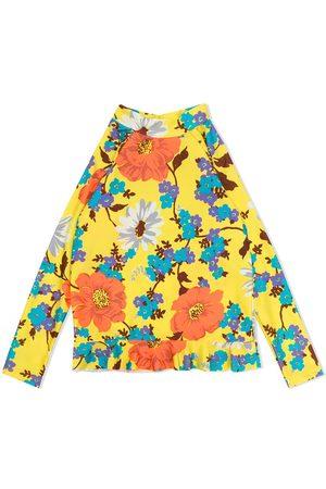 ZIMMERMANN Floral-print ruffle hem blouse