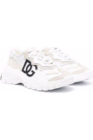 Dolce & Gabbana Boys Sneakers - Logo-patch low-top sneakers