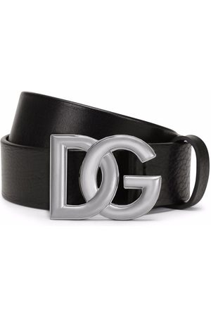 Dolce & Gabbana Calf leather logo-buckle belt
