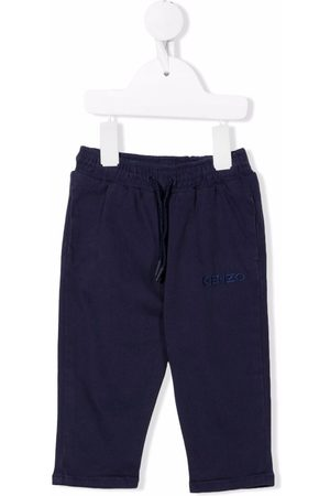 Kenzo Baby Pants - Logo-embroidered drawstring trousers