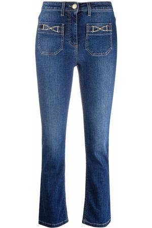 Elisabetta Franchi Mid-rise kickflare jeans