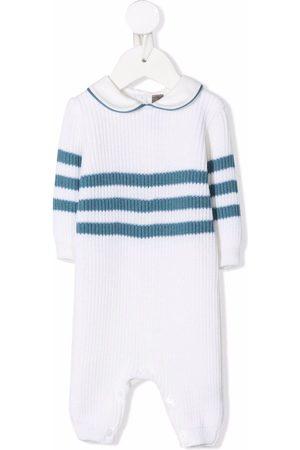 LITTLE BEAR Striped-knit wool shorties
