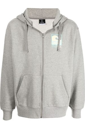 CLOT Logo-print zipped hoodie
