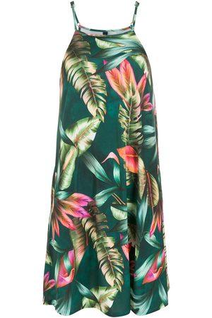 Lygia & Nanny Isis leaf-print dress
