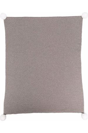 LITTLE BEAR Pom-pom wool blanket