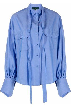 JEJIA Gathered-cuff cotton shirt