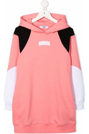 Msgm Logo-print hooded jumper dress