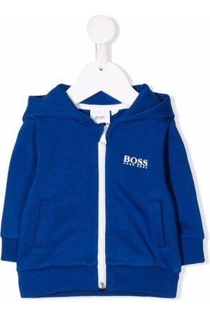 HUGO BOSS Logo-print zip-up hoodie