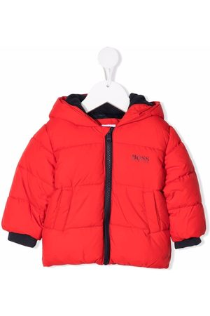 HUGO BOSS Logo-print hooded puffer jacket