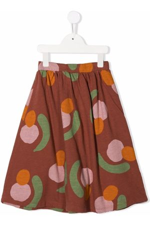 Bobo Choses Abstract pattern-print pleated skirt