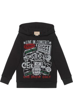 Gucci Gucci Concert-print cotton hoodie