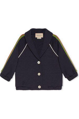 Gucci Stripe-detail button-fastening jumper