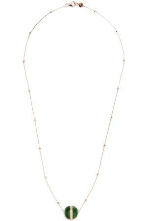 Dreamboule 18kt rose Star jade diamond pendand necklace