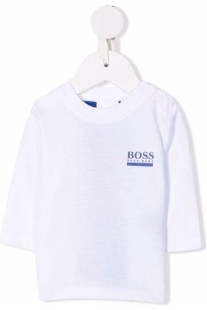 HUGO BOSS Logo-print long-sleeved T-shirt