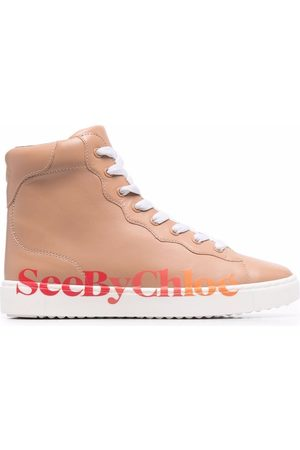 See by Chloé Logo-print zip-up trainers