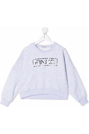 Pinko Kids Logo-print sweatshirt