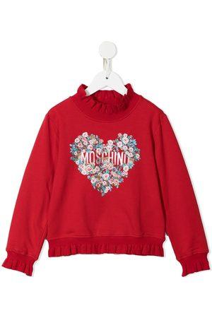 Moschino Plush logo-print cotton sweatshirt