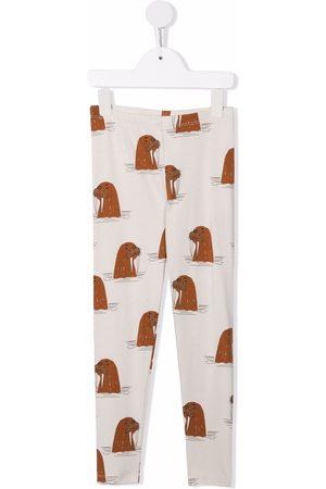 Mini Rodini Walrus-print leggings