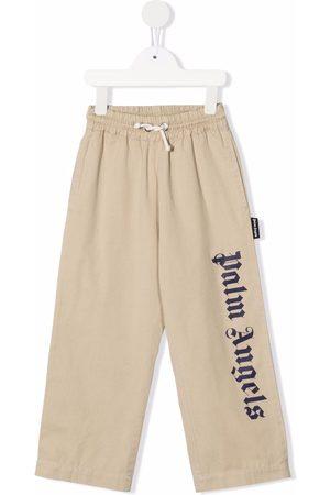 Palm Angels Logo-print drawstring trousers
