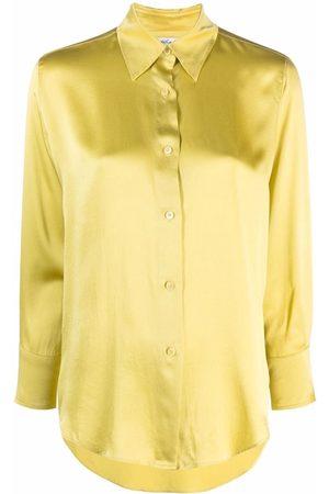 Yves Saint Laurent 2000s cropped sleeves silk shirt